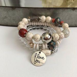 Jewelry - Beaded Friendship Bracelet, White
